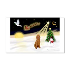 Night Flight/Apricot Poodle ( Car Magnet 20 x 12