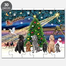 XmasMagic-6 Poodles Puzzle
