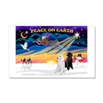 XmasSunrise/2 Std Poodles Car Magnet 20 x 12