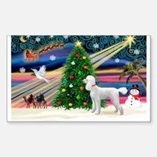 Xmas Magic & Poodle Sticker (Rectangle)