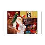 Santa's Std Poodle(w) Car Magnet 20 x 12