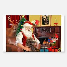 Santa's Std Poodle(c) Decal