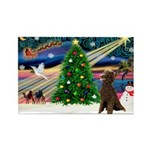 XmasMagic/ Std Poodle Rectangle Magnet