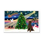 XmasMagic/ Std Poodle Rectangle Car Magnet