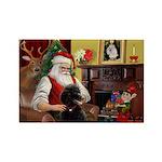 Santa's Poodle (ST-B4) Rectangle Magnet (10 pack)