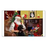 Santa's Poodle (ST-B4) Sticker (Rectangle 10 pk)
