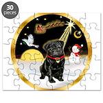 Night Flight/Pug (blk)#13 Puzzle