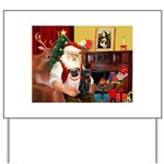 Santa's Two Pugs (P1) Yard Sign