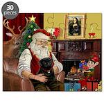 Santa's Black Pug Puzzle