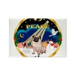 XmasSunrise/Pug Rectangle Magnet (10 pack)