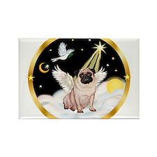 Night Flight/ Pug Rectangle Magnet