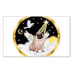 Night Flight/ Pug Sticker (Rectangle)