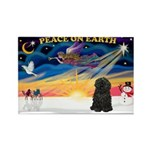 XmasSunrise/Puli #1 Rectangle Magnet (10 pack)