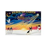 XmasSunrise/Rat Ter #1 Rectangle Magnet (10 pack)