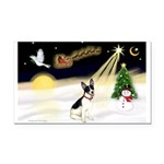 Night Flight/Rat Terrier Rectangle Car Magnet