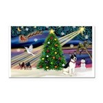 XmasMagic/Rat Terrier Rectangle Car Magnet