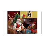 Santa's Rat Terrier Car Magnet 20 x 12