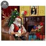 Santa's Rat Terrier Puzzle