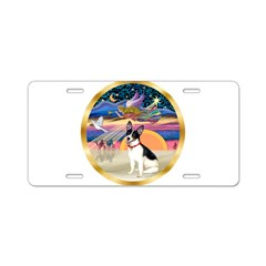 XmasStar/Rat Terrier Aluminum License Plate