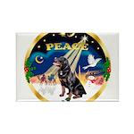 XmasSunrise/Rottweiler Rectangle Magnet (10 pack)