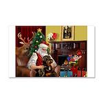 Santa's Rottweiler Car Magnet 20 x 12