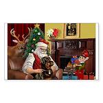 Santa's Rottweiler Sticker (Rectangle 50 pk)
