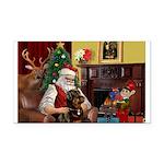Santa's Rottweiler Rectangle Car Magnet