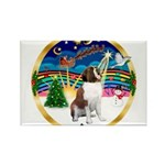 XmasMusic 3/ St Bernard #1 Rectangle Magnet (10 pa