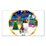 XmasMusic 3/ St Bernard #1 Sticker (Rectangle 50 p