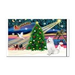 Xmas Magic & Samo Rectangle Car Magnet