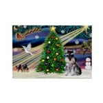 XmasMagic/ Min Schnauzer Rectangle Magnet (10 pack
