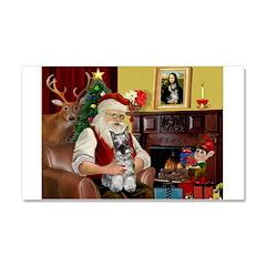 Santa's Mini Schnauzer Car Magnet 20 x 12