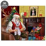 Santa's Schnauzer (9) Puzzle