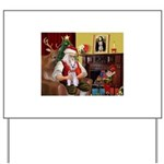 Santa's Schnauzer (9) Yard Sign