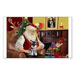 Santa's Schnauzer pup Sticker (Rectangle)
