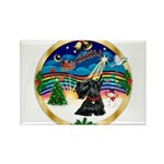 XmasMusic 3/Scottie #12 Rectangle Magnet (10 pack)