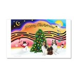 Xmas Music #2 / 2 Shelties (d Car Magnet 20 x 12