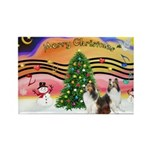 Xmas Music #2 / 2 Shelties (d Rectangle Magnet (10