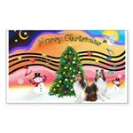 Xmas Music #2 / 2 Shelties (d Sticker (Rectangle 5