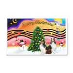 Xmas Music #2 / 2 Shelties (d Rectangle Car Magnet