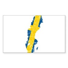 Sweden Flag And Map Decal