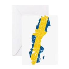 Sweden Flag And Map Greeting Card