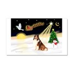 Night Flight/Sheltie Car Magnet 20 x 12