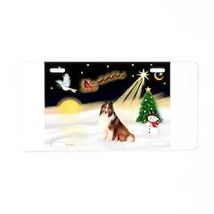 Night Flight/Sheltie Aluminum License Plate