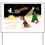 Night Flight/Sheltie Yard Sign