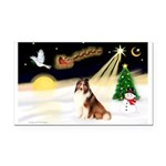 Night Flight/Sheltie Rectangle Car Magnet