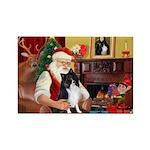 Santa's Bi Black Sheltie Rectangle Magnet