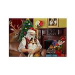 Santa's Sheltie (SW) Rectangle Magnet (10 pack)