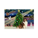 XmasMagic/Sheltie (7R) Rectangle Magnet