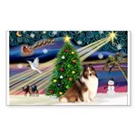 XmasMagic/Sheltie (7R) Sticker (Rectangle 50 pk)